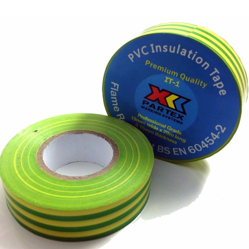 1-x-green-yellow-earth-electrical-pvc-insulation-insulating-tape-19mm-x-20m-flame-retardant