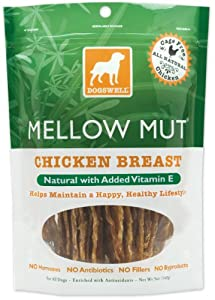 Dogswell Mellow Mut for Dogs, Chicken Breast, With Natural Vitamin E, 5-Ounce Pouches (Pack of 6)