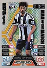 Match Attax 2013/2014 Claudio Yacob West Brom 13/14 Man Of The Match