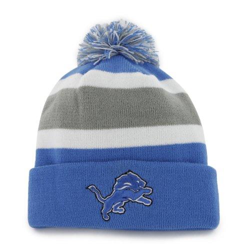 Nfl Detroit Lions Men'S Breakaway Knit Cap, One Size, Blue Razz