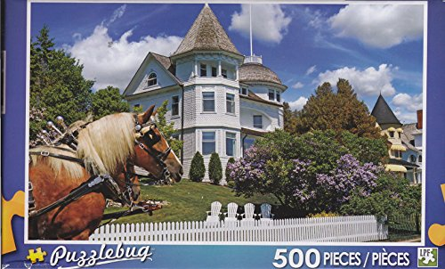 Puzzlebug 500 Piece Puzzle ~ The Wedding Cake Cottage, Mackinac Island, Michigan - 1