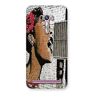 Premium Girl Singing Wall Back Case Cover for Zenfone Selfie