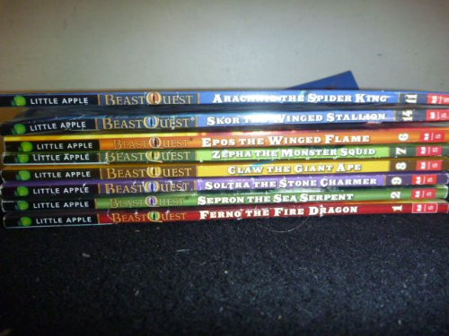 Set of 8 Beast Quest Series Collection Books (#1 #2 #6 #7 #8 #9 #11 #14) (BeastQuest, Set of 8 Beast Quest Series Collection Books (#1 Ferno the Fire Dragon, #2 Sepron the Sea Serpent, #6 Epos the Winged Flame, #7 Zepha the Monter Squid, #8 Claw the Giant Ape, #9 Soltra the Stone Charmer, #11 Arachnid the Spider King, #14 Skor the Winged Stallion)) (Beast Quest Series 14 compare prices)