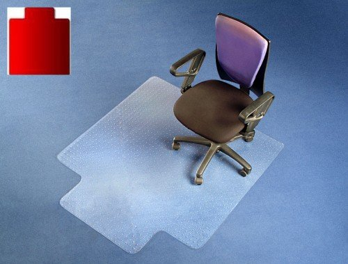 FloordirektPRO Office Chair Mat - 115x134cm - 100% Polycarbonate with Lip - Carpet Floor Protection