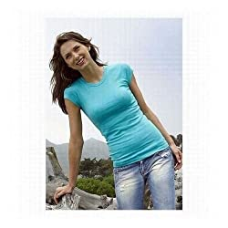 Bella Ladies Sheer Rib Longer Length Tee