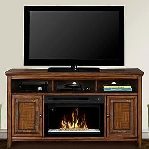 Dimplex Lynbrook Cinnamon Electric Fireplace Entertainment Center W Glass Gds25g 1410lb