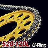 チェーン 520-120L シールチェーン ブラック チェーン XL250 KDX250SR KLE400 TRX200SX FZR400 DRZ400SM CBX250RS GB250 GN400T バンディットVZ ZX-6RR XL230 WR125 CR125 XT250T SL230 エリミネーター250V CR125R FX400R WR450F グース350 XR250