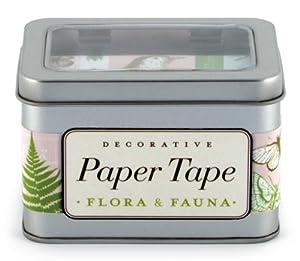 Cavallini Flora & Fauna Decorative, 5 Assorted rolls
