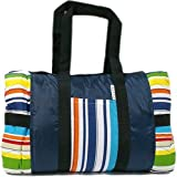 Tuffo Water-Resistant Outdoor Blanket with Carrying Case, Stripe