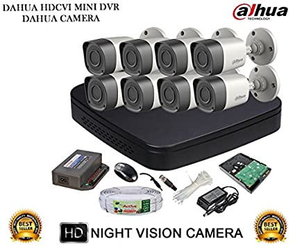 Dahua-DH-HCVR4108C-S2-8CH-Dvr,-8(DH-HAC-HFW1000RP)-Bullet-Camera-(with-Accessories,2TB-HDD)