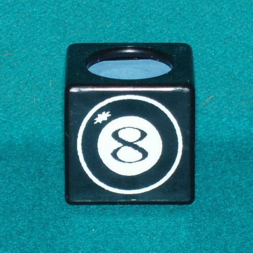 Billiard Pool Cue Chalk Holder - 8 Ball (Black):Amazon:Sports