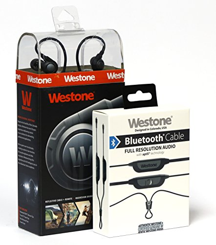 Westone ADV Adventure Series Alpha High Performance In-Ear Earphones with MMCX Bluetooth Cable, 78558 (Westone Adv Headphones compare prices)