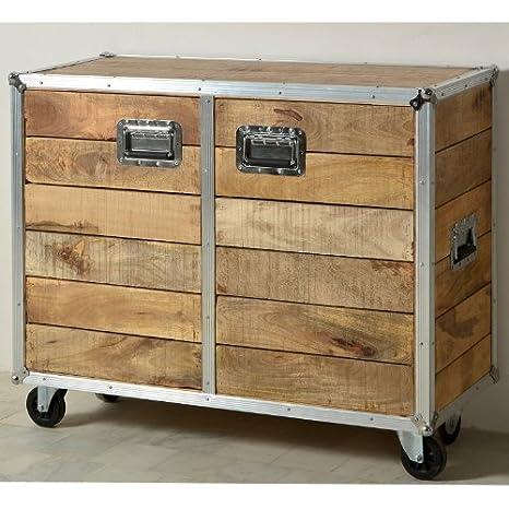 SalesFever A sideboard of hardwood - ROTA mango doors small on rolls