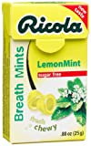 Ricola Herbal Sugar Free Lemonmint Breath Mints, 0.88-Ounce Boxes (Pack of 12)