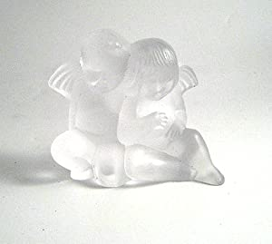Lalique Figurine Twin Angels