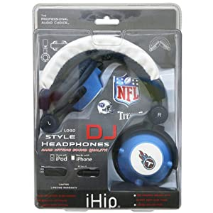 NFL Tennessee Titans Team Logo DJ Headphone by Zeikos