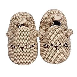 Voberry® Baby Girls Boys Indoor Soft Bottom Non-slip Toddler Cute Dog Shoes11-13cm (11cm)