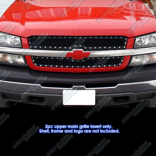03-06 Chevy Avalanche/03-05 Silverado 1500/SS/03-04 2500 Rivet Mesh Grille Grill (2500 Hd Grill Inserts compare prices)