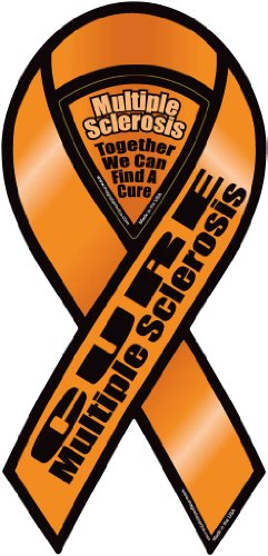 Cure Multiple Sclerosis 2 in 1 Ribbon Magnet