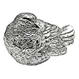 Design Toscano Bird Statue, Closed Beak, Silver