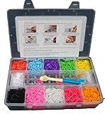 Toy - 3000 Bunte Gummib�nder Loom Armband, das Starter-Kit mit 120 DIY-Clips