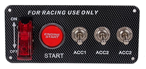 DC12V Ignition Switch Panel 5 in 1 Car Engine Start Push Button LED Toggle For Racing Car (Race Ignition Switch compare prices)