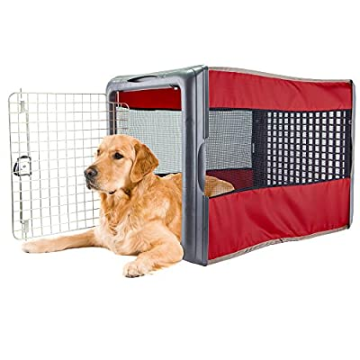 Large Pop Crate Red - Dog House Dogs Cats Houses Kennel Crate Play Pen Igloo Outdoor Indoor - Sale!