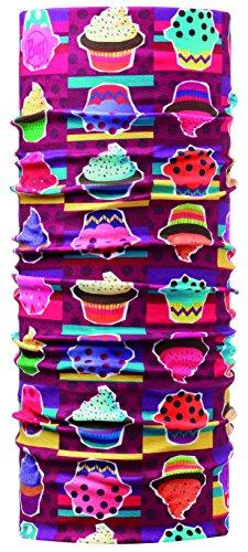 Buff - Cappello multifunzione da ragazza, Multicolore (Cupcake), Taglia unica