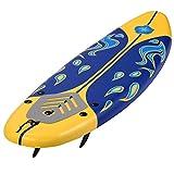 Giantex 6' Surfboard Surf Foamie Boards Surfing Beach Ocean Body Boarding Red (Yellow & Blue)