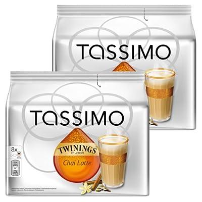 Tassimo Twinings Chai Latte, Tee, Schwarztee, Kapsel, 2er Pack, 2 x 16 T-Discs (16 Portionen) von Kraft Foods auf Gewürze Shop