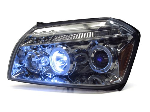 100W Halogen -Chrome 6 inch Passenger side WITH install kit 2007 Kenworth CONVENTIONAL Side Roof mount spotlight