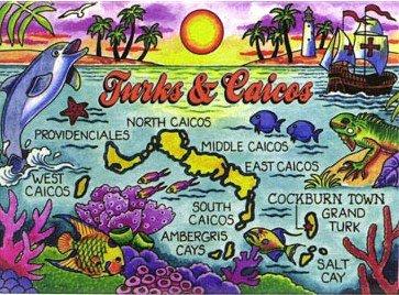 "Turks & Caicos Caribbean Fridge Collector'S Souvenir Magnet 2.5"" X 3.5"""