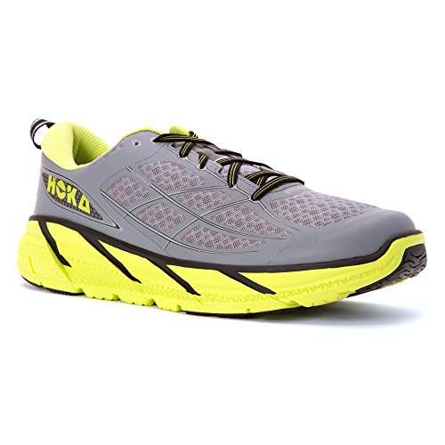 Hoka Clifton 2 uomo - Grey/Acid, 43,3