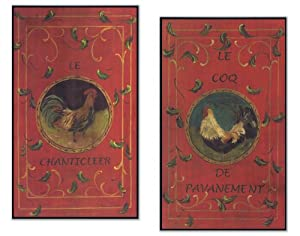 Stupell Home Le Chanticleer and Le Coq Kitchen Wall Plaque Set