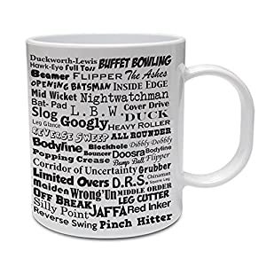 CRICKET TERMS - Cricketing / Cricketer / Gift / Novelty Themed Ceramic Mug