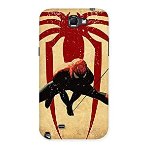 Impressive Hanging Web Multicolor Back Case Cover for Galaxy Note 2