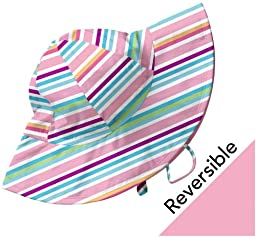 i play. Baby Girls\' Reversible Brim Sun Protection Hat M&M, Multi, 0 6 Months