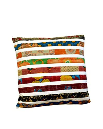 Stripe Pillow, White Base/Stripes Multi