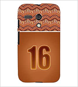 PrintDhaba Numerology Number 16 D-3649 Back Case Cover for MOTOROLA MOTO G (Multi-Coloured)
