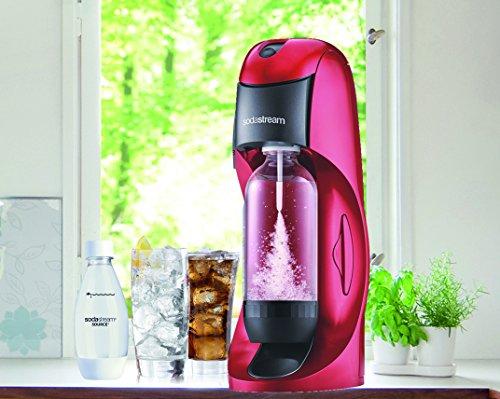 Sodastream DYNAMORPLUS Dynamo Machine à Soda avec Bouteille Petit Modèle Fuse Pet Plastique Rouge 22 x 15 x 42 cm
