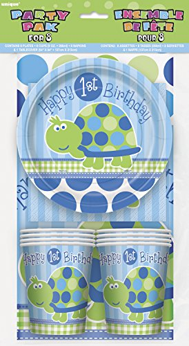 Turtle First Birthday Party Pack for 8 - 1