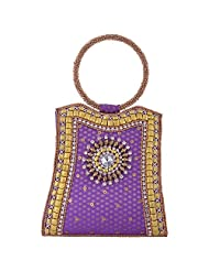 Mela Mela Womens Bangle Clutch Purple