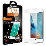 【Spigen】 iPhone6s Plus ガラス フィルム, フルカバー グラス [ 全面液晶保護 9H硬度 發油加工 ] アイフォン6s プラス /  6 プラス 用 (ホワイト SGP11635)