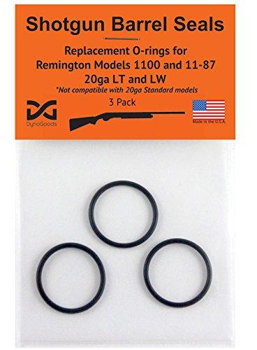 Shotgun Barrel Seals for Remington 1100 or 11-87 20ga LT or LW, O-ring 3 pack
