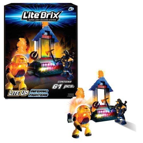 Lite Brix Lite Up Inferno Fighters Playset