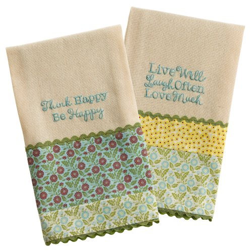Grasslands Road Linen Spring Meadow Guest Towel Assortment, 18 By 20-Inch, Set Of 12