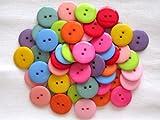 usausaのお店 カラフル大きいボタン 10色50個セット(22.5mm)(005)