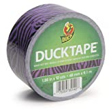 Duck Brand 281517 Purple Zebra Printed Duct Tape, 1.88-Inch by 10 Yards, Single Roll