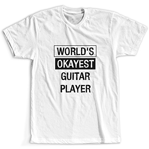 World's Okayest Guitar Player Maglietta / T-Shirt / Donna / Più dimensioni / Spedizione Veloce