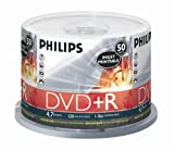 51uhpLtsP1L. SL160  Philips 4.7GB 16X Inkjet Printable DVD+R (50pk Spindle, White)
